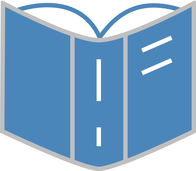graphic icon of book
